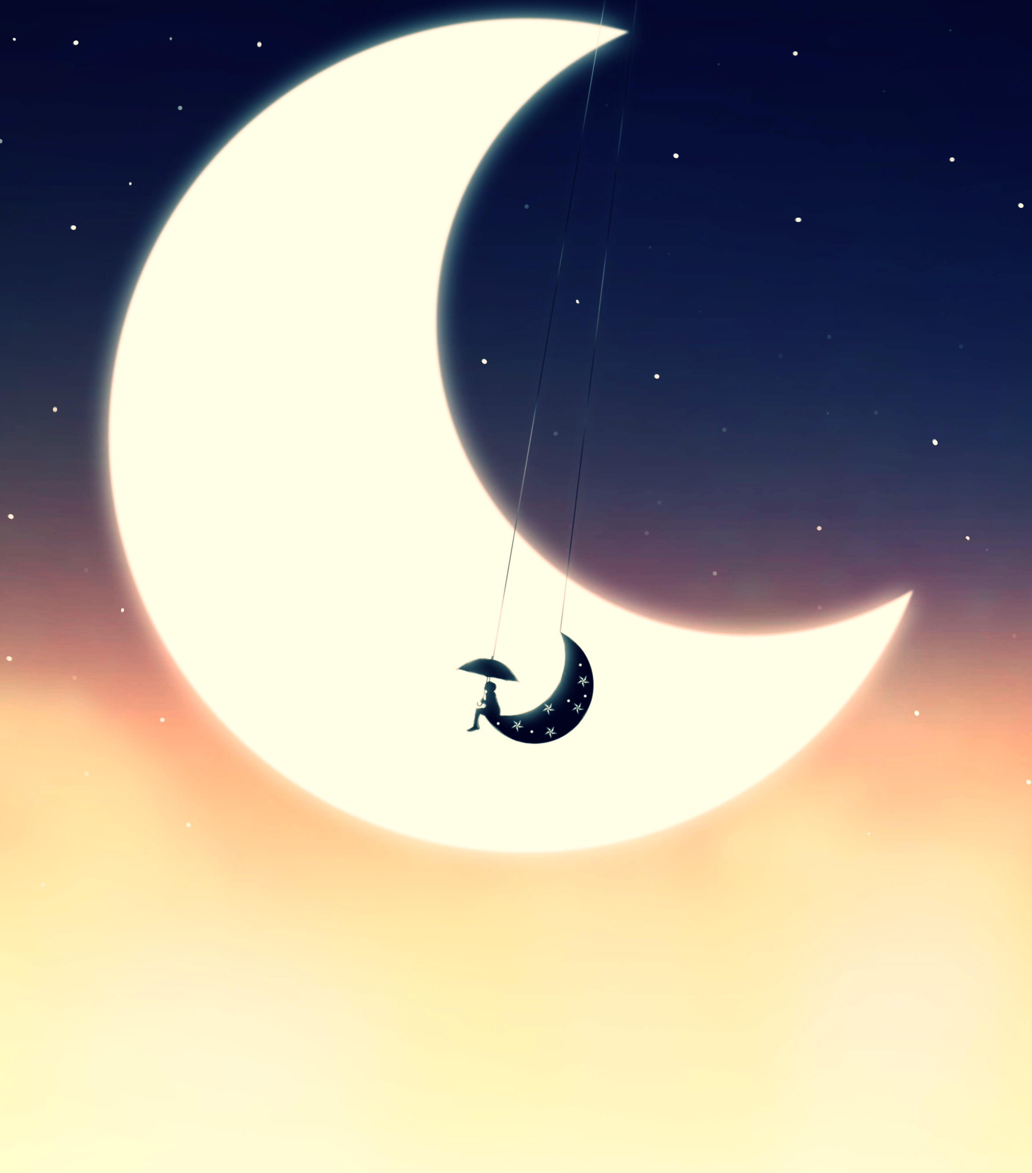 артистки луна картинка рисунок гармонично
