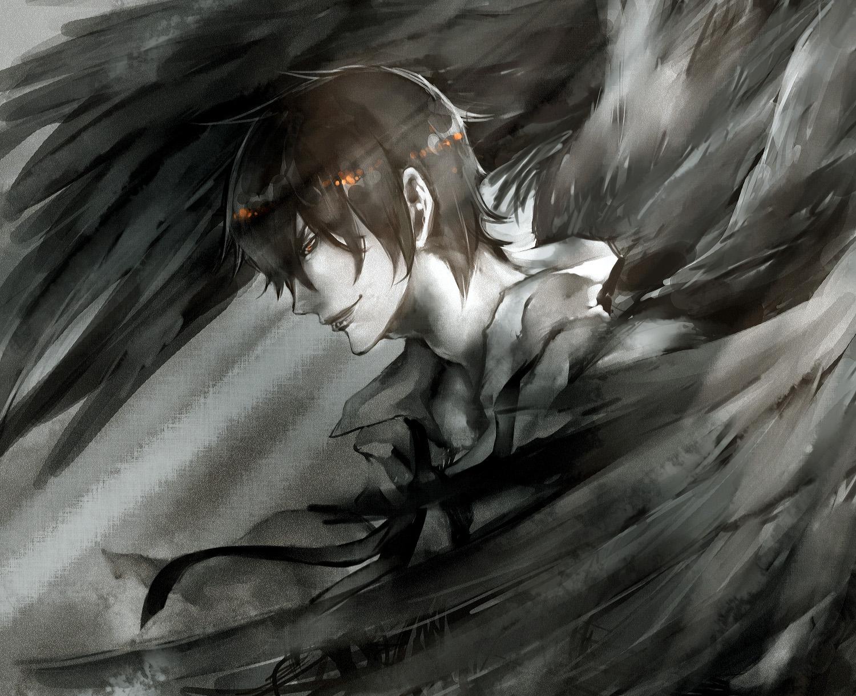 Картинка парень с черными крыльями