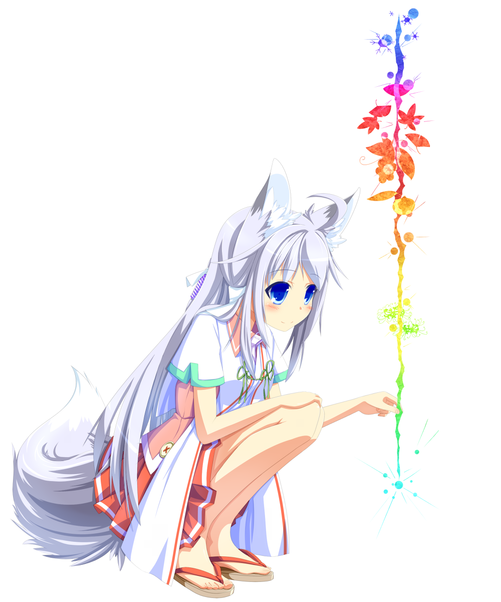 Картинки аниме белая лиса